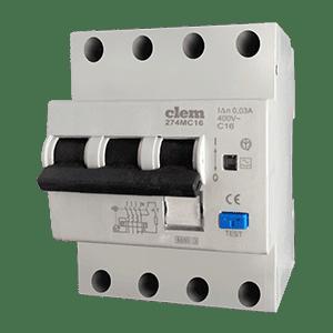 Interruttore differenziale magnetotermico 3P+N